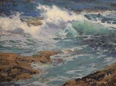 Roger Dale Brown, Pemaquid Point, Oil on Linen, 18 x 24 inches