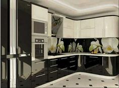 Black N White Kitchen Nice Kitchens Awesome