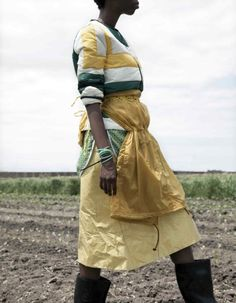Anorak as apron. Brilliant styling by Katie Shillingford; Jackie Nickerson, photographer