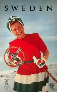 Another of those Bond-style bullet-firing ski sticks!! And she looks so nice...  1951