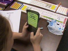 """cell phone"" with QWERTY keyboard. Students write then ""text"" their spelling of high frequency words during word work time. 4th Grade Spelling, Learn Spelling, Spelling Ideas, Teaching Schools, Teaching Writing, Teaching Ideas, Teacher Blogs, Teacher Resources, Teacher Stuff"