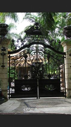 Gorgeous drive way gates