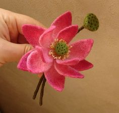 Needle Felted Flower