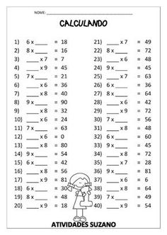 Color By Number Multiplication 3rd Grade Math Worksheets, 4th Grade Math, Grade 1, Math For Kids, Fun Math, Math Exercises, Math Sheets, Math Practices, Homeschool Math