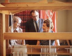 Where I learned to weave. Marianne Strengell with Loja and Eero Saarinen, Courtesy of Cranbrook Archives Rya Rug, Bloomfield Hills, Chief Architect, Eero Saarinen, Textile Artists, Textile Design, Textiles, Love, Inspiration