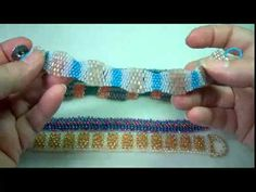 Here are the bracelets made with my flat even-count peyote tutorial, available in ebook form at http://www.beadedjewelrydiva.com/tutorials/even-count-peyote-...