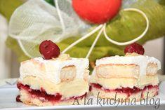 ciasto bajka karpatka świąteczne ciasto konfitura wiśniowa bita śmietana wilgotne pyszne smakowite łatwe