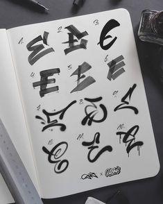 Graffiti Alphabet Styles, Graffiti Lettering Alphabet, Hand Lettering Art, Tattoo Lettering Fonts, Graffiti Font, Graffiti Tagging, Graffiti Drawing, Graffiti Murals, Lettering Styles