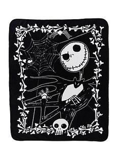 The Nightmare Before Christmas Jack Throw Blanket,