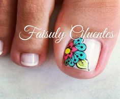 Uñas Cute Toe Nails, Cute Toes, Toe Nail Art, Love Nails, Pedicure Designs, Nail Art Designs, Toe Polish, Bright Nails, Feet Nails
