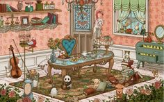 Antique Room Wallpaper by Uistore