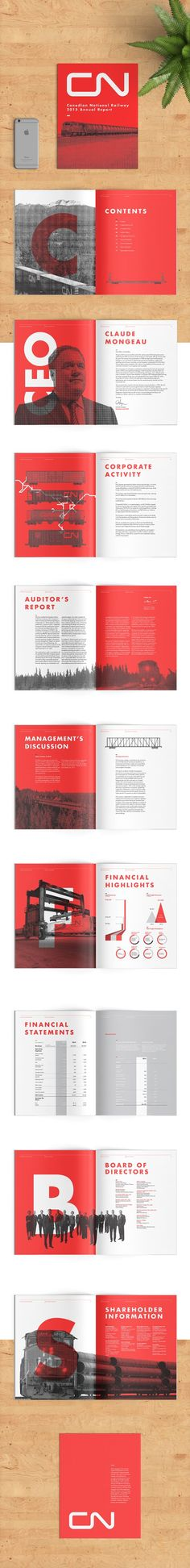 CN Annual Report on Behance                                                                                                                                                                                 More: