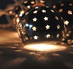 Starry Night Lights 10 Silver Metal Globes Lights  Plug In  String Lights (9.5') $13