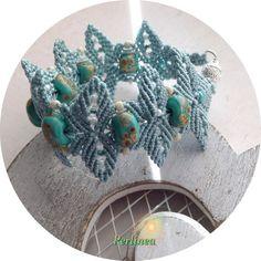 Micro Macrame Tutorial DIY Flower Bracelet Beaded por LaPerlinea