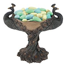Park Avenue Collection Crested Peacock Candy Dish