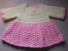Crochet Baby Sweater Dress Pattern by Bella Bambina Knits. Sizes: Newborn Crochet this warm sweater dress with long sleeves to keep a new baby looking super cute and warm. Free Pattern No related posts. Crochet Baby Dress Free Pattern, Baby Girl Crochet, Crochet Baby Clothes, Newborn Crochet, Crochet Patterns, Crochet Dresses, Free Crochet, Irish Crochet, Easy Crochet