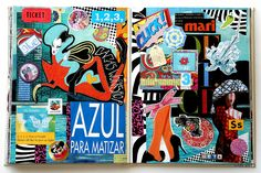 https://flic.kr/p/b3R3aa | Forever18 | azul_PintadoDe_Azul  December 2011/ Diciembre 2011  Hardcover. Visual Journal. Altered Book. 21 x 28 cms. 8.5 x 11 in. Double spread. Collage on paper. Handmade. Not digital images at all. Instants, sighs. Life.  ©fdL2011