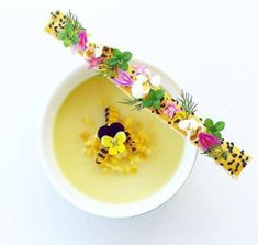 Corn soup by Tag your best plating pictures with to . Corn soup by Tag your best plating pictures with to get featured. Food Design, Food Plating Techniques, Corn Soup, Soup Plating, Food Decoration, Culinary Arts, Plated Desserts, Food Presentation, Food Styling