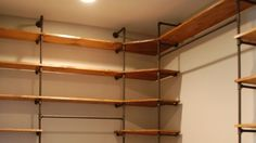 Image of: Industrial pipe shelving etsy