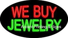 We Buy Jewelry Flashing Handcrafted Real GlassTube Neon Sign