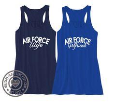 Custom Air Force Racerback Tank Top air force by MilitaryHeartTees