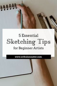 Pencil Drawing Tutorials In this post, I share five useful sketching tips for beginner artists. How to sketch tips. Drawing for beginners. - In this post, I share five useful sketching tips for beginner artists. How to sketch tips. Drawing for beginners. Beginner Drawing Lessons, Beginner Sketches, Drawing Tutorials For Beginners, Beginner Art, Pencil Drawing Tutorials, Sketches Tutorial, Art Tutorials, Sketch Ideas For Beginners, Pencil Drawings For Beginners