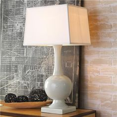 "Ceramic Genie Bottle Table Lamp - 3-way 150 watts. (32""Hx16""Wx12""D)  $311"