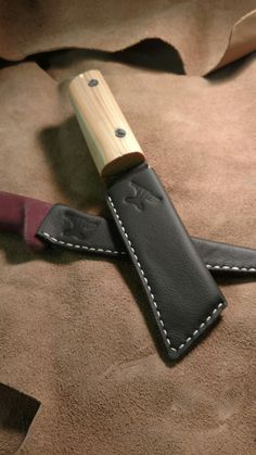 Handmade leather knife sheath from The Anvil Workshop