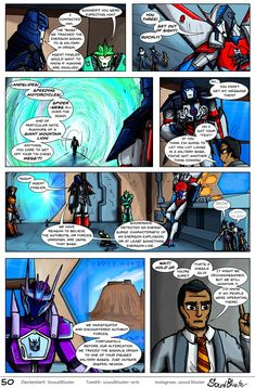 Shattered Glass Prime - Page 50 by SoundBluster on DeviantArt Transformers Cybertron, Transformers Prime, Shattered Glass, 50th, Geek Stuff, Hero, Animation, Deviantart, Ben Tennyson