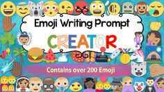 Use this for a fun and engaging way to spice up your English lessons.Perfect for either short and sharp 10 minute writing warm up activities or deep and immersive narratives written over a period of time.Containing over 200 hundred Emoji graphics, this evergreen resource also includes excellent narrative planning tools for your classroom IWB or large screen allowing you a multitude of open ended literacy tasks.The Emoji are broken into the following categories for quick access and…
