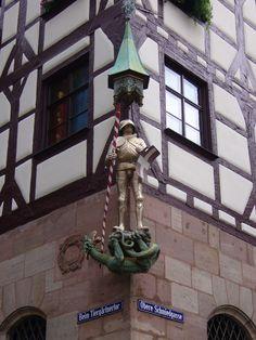 Nürnberg Nuremberg  Germany Alemania Deutschland San Jorge Casa de Pilatus