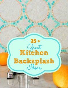 Great Kitchen Backsplashes at Remodelaholic.com