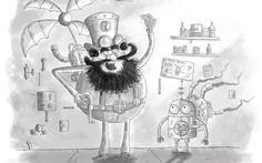 - adorable, armed, art, beard, black, cartoon, cartoony