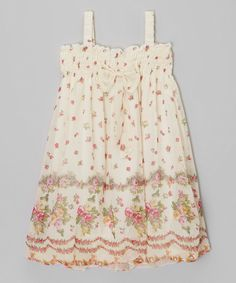 Look at this Wenchoice Ivory Rose Babydoll Dress - Infant, Toddler & Girls on #zulily today!
