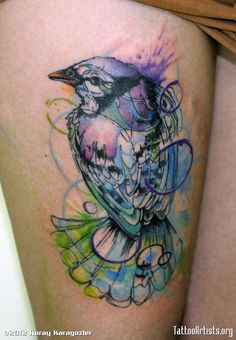 I've got a crush on watercolor tattoos