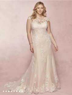WEDDING DRESS // REBECCA INGRAM This gown offers additional coverage to our Leisl style. A classic wedding gown with romantic details, this soft fit-and. Affordable Wedding Dresses, Dream Wedding Dresses, Designer Wedding Dresses, Bridal Dresses, Bridesmaid Dresses, Classic Wedding Gowns, Elegant Wedding, Curvy Bride, Dresses Short