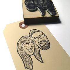 Personalized couple portrait rubber stamp- Custom couple portrait stamp - wedding stamp, Custom Face Stamp- gifts for couples Personalised Wedding Invitations, Wedding Stationary, Personalized Wedding, Invites, Journaling, Custom Christmas Cards, Unique Save The Dates, Anna Griffin Cards, Practical Wedding