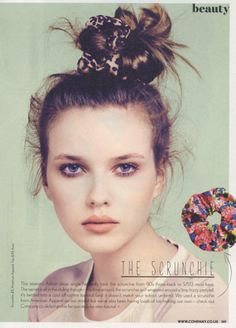 Company magazine featured the #AmericanApparel Shiny Peach Cheetah Scrunchie, UK, May 2013.