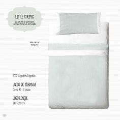 Juego sábanas Gamanatura Kids modelo Littel Stripes cama 90