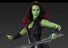 Zoe Saldana as Gamora   Guardianes-galaxia-Gamora-Zoe-Saldana (3)