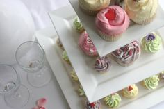 Wedding cupcakes - Angel Food Bakery http://www.angelfoodbakery.co.uk