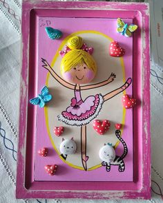 Stone Crafts, Rock Crafts, Diy Home Crafts, Crafts For Kids, Arts And Crafts, Pebble Painting, Stone Painting, Clay Art Projects, Rock And Pebbles