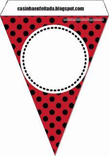 Casinha de Criança: Kit Chá de Bebê Joaninha Para Imprimir Grátis Happy Birthday Printable, Happy Birthday Banners, Birthday Party Themes, Mickey Party, Mickey Minnie Mouse, Ladybug Bulletin Boards, Red Classroom, Miraculous Ladybug Party, Ladybug Crafts