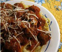 Crockpot Spaghetti and Meatballs Recipe - Slow Cooker Frozen Meatballs Entree Recipes