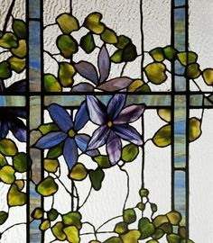Detail Of A Clematis by Tiffany Studios
