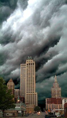 Storm over downtown Tulsa, Oklahoma