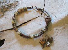 Boho Jewelry/Bone Jewelry/Chunky Bead by edanebeadwork on Etsy, $28.00