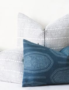 Kamba Cushion - Indigo Duo