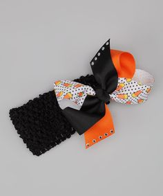 This Black Headband & Halloween Bow is perfect! #zulilyfinds