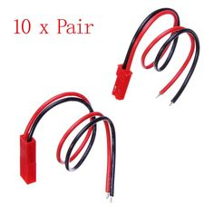 5 x JST Connector Plug With Connect Cable For RC BEC ESC Battery